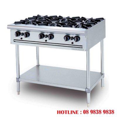Bếp  u 6 họng - Trợ thủ đắc lực của nhà bếp công nghiệp
