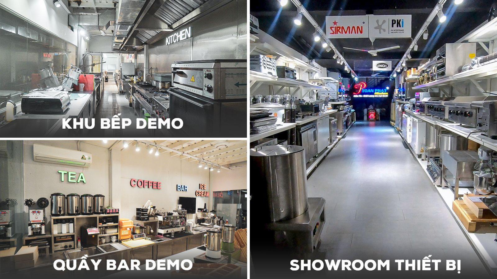 showroom thiết bị bếp công nghiệp toàn phát